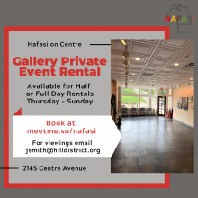 COMING SOON! Nafasi Gallery & Private Event Space Rental